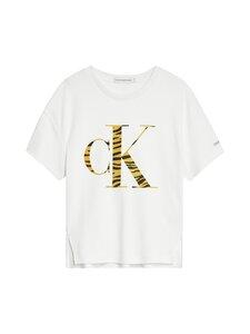 Calvin Klein Kids - Urban Animal CK Flock T-shirt -paita - YAF BRIGHT WHITE | Stockmann