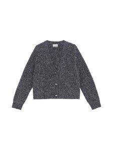 Ganni - Soft Wool Knit -villasekoiteneuletakki - EBONY MELANGE 262 | Stockmann