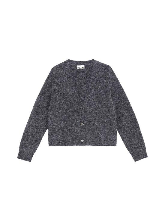 Ganni - Soft Wool Knit -villasekoiteneuletakki - EBONY MELANGE 262 | Stockmann - photo 1