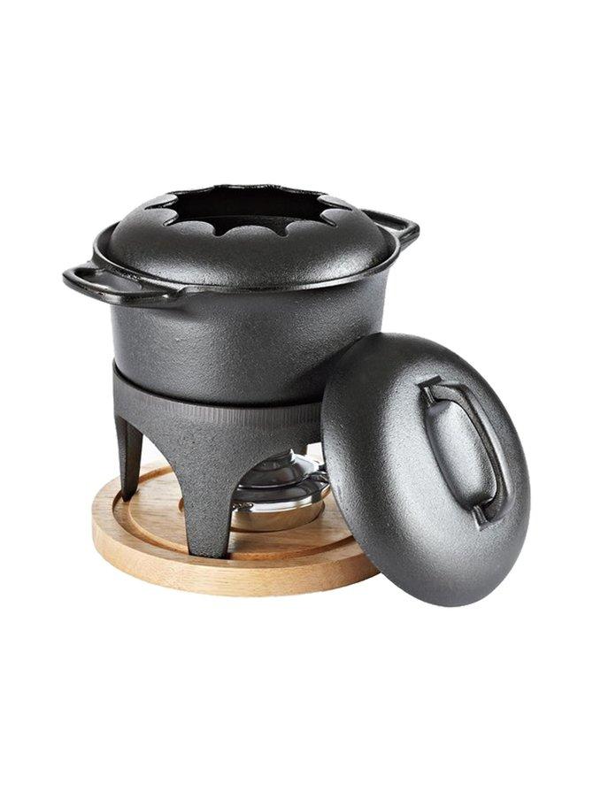 Le Gourmet -fonduepata ja lämpöalusta