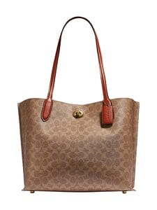 Coach - Willow Tote In Signature Canvas -laukku - B4NQ4 B4/TAN RUST | Stockmann