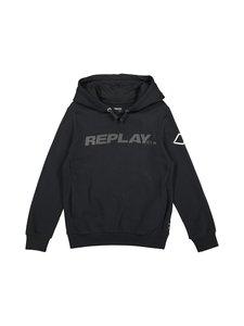 Replay & Sons - Carbon Finish Fleece Hoodie -huppari - 098 BLACK | Stockmann