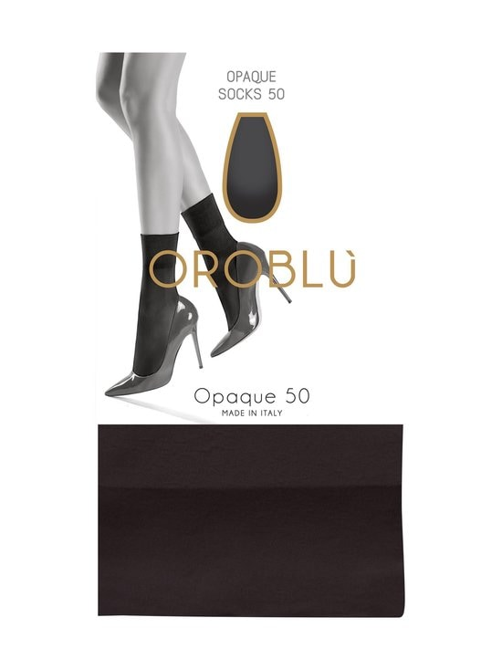 Oroblu - Opaque 50 den -nilkkasukat - MUSTA | Stockmann - photo 1