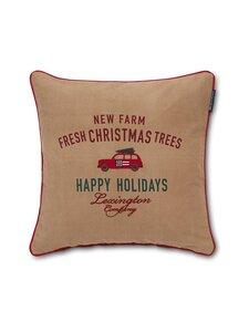 Lexington - Holiday Car Cotton Twill -tyynynpäällinen 50 x 50 cm - BEIGE | Stockmann