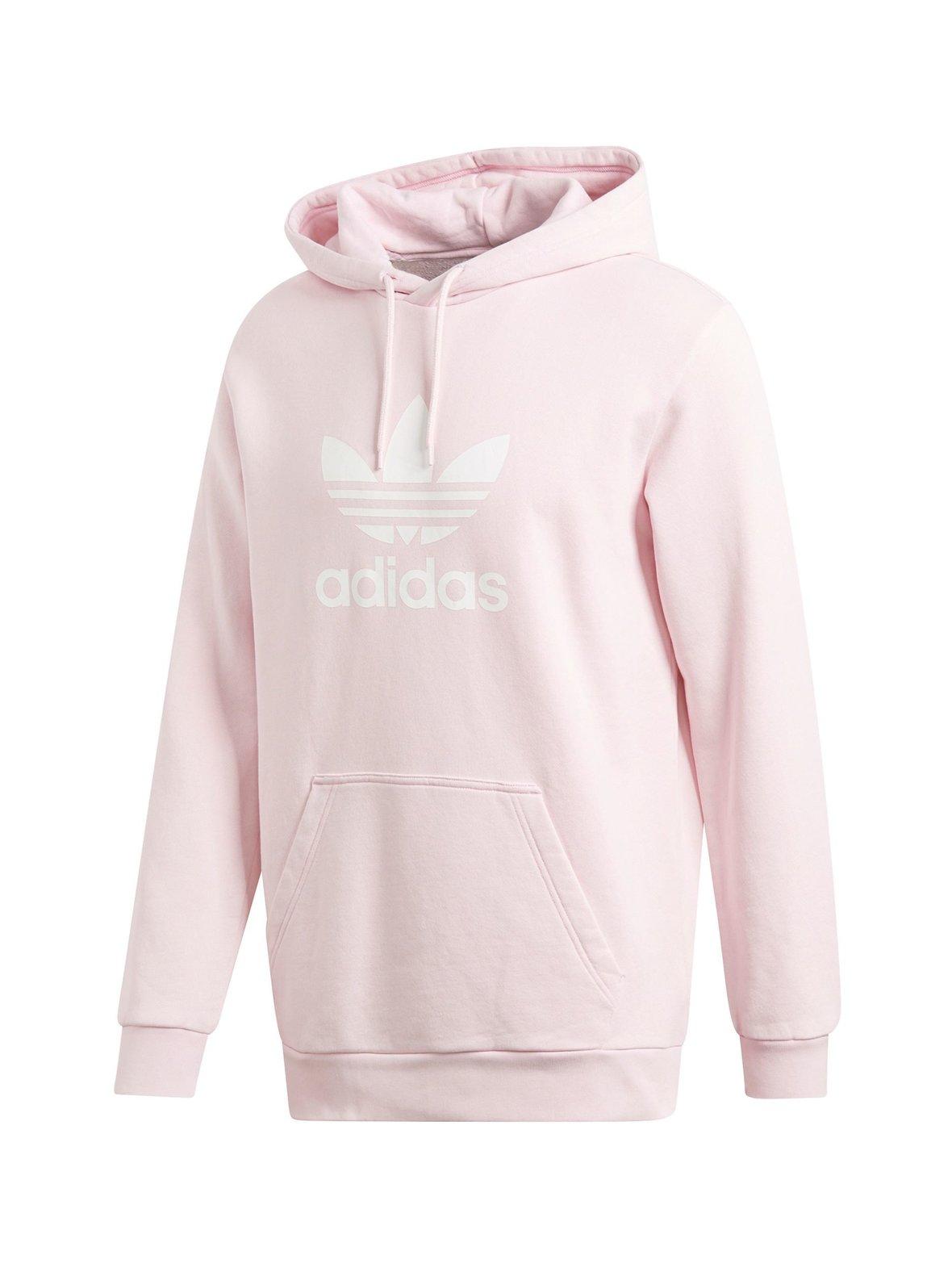 Clear Pink (vaaleanpunainen) Adidas Originals M Trefoil -huppari ... 42c057a8d7