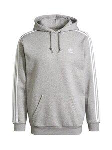 adidas Originals - 3-Stripes Hoodie -huppari - MGREYH MEDIUM GREY HEATHER | Stockmann