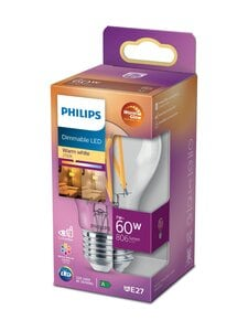 Philips - LED Classic 60W E27 Warm Glow Dimming -lamppu - WHITE | Stockmann