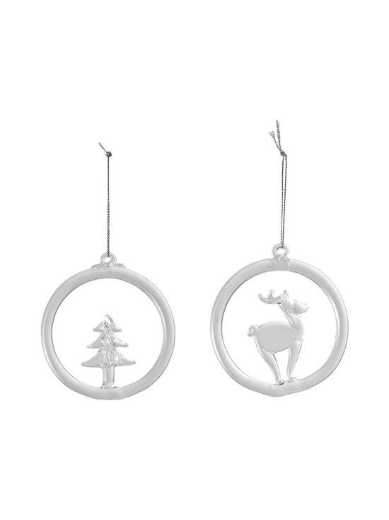 Villeroy & Boch - Christmas Decoration Glass Hanging Ornament Reindeer and Tree -joulukoriste 2 kpl - KIRKAS | Stockmann - photo 1