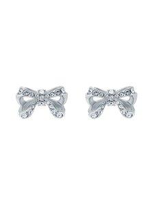 Ted Baker London - Callayy Crystal Petite Bow Stud Earring -korvakorut - SILVER, CRYSTAL   Stockmann