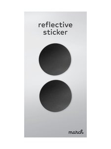 March Design - Heijastava tarra ø 5,2 cm, 2 kpl - BLACK   Stockmann