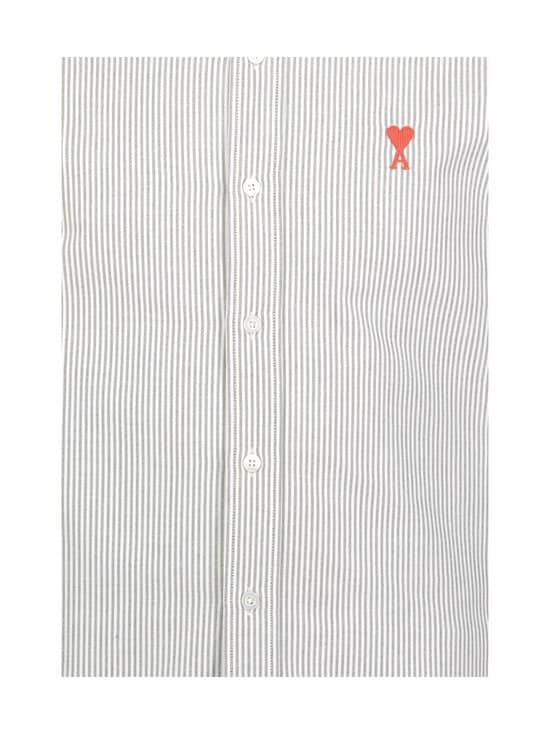 Ami - Ami de Coeur Pinstripe Shirt -kauluspaita - WHITE/BLACK/101 | Stockmann - photo 3