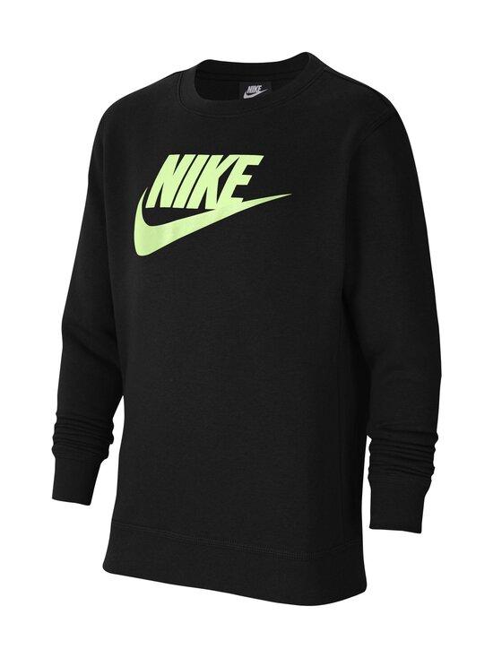 Nike - Logo Club Fleece Neon Logo -collegepaita - BLACK/BARELY VOLT   Stockmann - photo 1