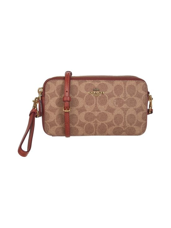 Coach - Kira Crossbody In Colorblock Signature Canvas -laukku - B4/TAN RUST | Stockmann - photo 1