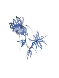Duni - Blue Velvet -servetti 24 x 24 cm, 12 kpl - SININEN/VALKOINEN | Stockmann