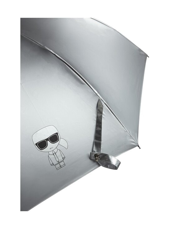 Karl Lagerfeld - K Ikonik Metallic -sateenvarjo - 290 SILVER | Stockmann - photo 2