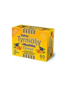 VN Via Naturale - Vahva Tyrniöljy + Mustikka Omegat -ravintolisä 60 kaps./58 g - null | Stockmann