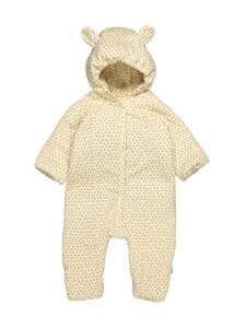 Konges Sløjd - New Born Onesie With Hood Deux -haalari - TINY CLOVER BEIGE | Stockmann