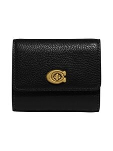 Coach - Signature Turnlock Small Wallet -nahkalompakko - B4/BLACK | Stockmann