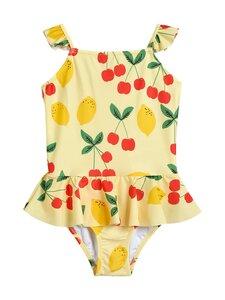 Mini Rodini - Cherry Lemonade Skirt Swimsuit -uimapuku - YELLOW | Stockmann