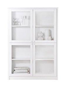 Lundia - Classic-vitriini 34 x 150,5 x 105 cm - WHITE LACQUERED PINE/GLASS DOORS | Stockmann