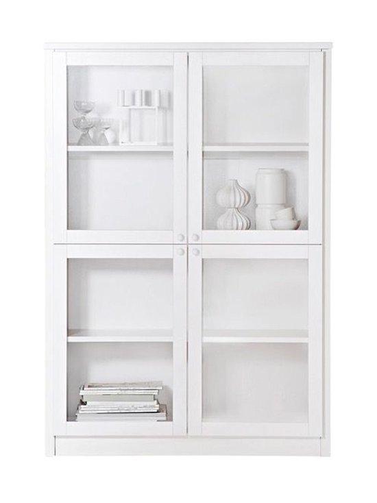 Lundia - Classic-vitriini 34 x 150,5 x 105 cm - WHITE LACQUERED PINE/GLASS DOORS   Stockmann - photo 1