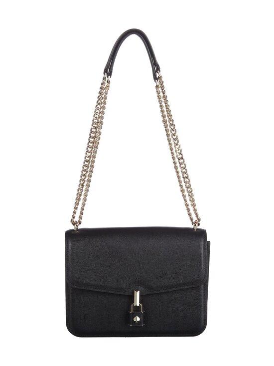 kate spade new york - Locket Large Flap Shoulder Bag -nahkalaukku - 001 BLACK | Stockmann - photo 1