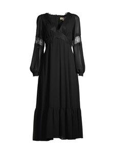 Michael Michael Kors - Lace Trim Georgette Midi Dress -mekko - 001 BLACK | Stockmann