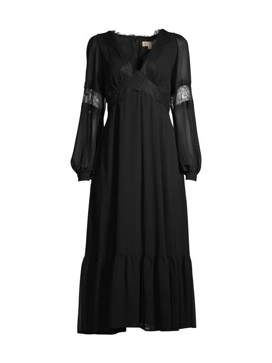 Michael Michael Kors - Lace Trim Georgette Midi Dress -mekko - 001 BLACK | Stockmann - photo 1
