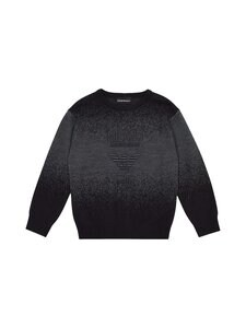 Emporio Armani - Knitted Misty Logo -neule - F914 SFUMATO BLU/GR | Stockmann