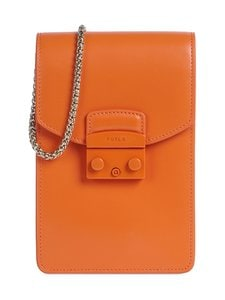 Furla - Metropolis Mini Vertical Crossbody -nahkalaukku - BG600 ORANGE I | Stockmann