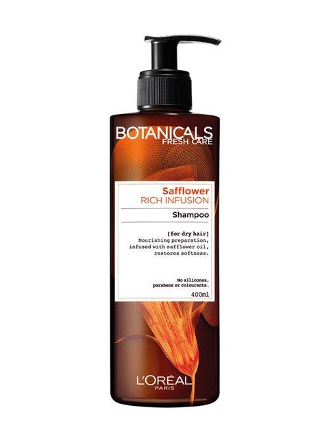 Argan & Safflower -ravitseva shampoo kuiville hiuksille 400 ml