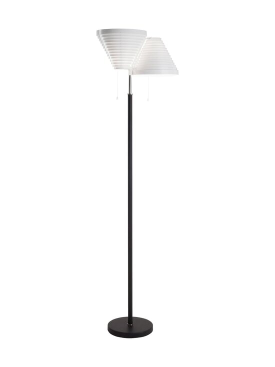 A810 floorlamp black leather / steel Artek