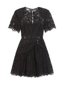 Self-Portrait - Fine Cord Sleeve Mini Dress -mekko - BLACK | Stockmann