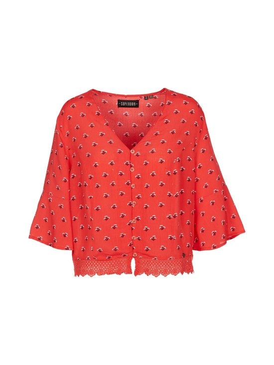Superdry - Sunny Lace Top -pusero - 63L RED DITSY | Stockmann - photo 1