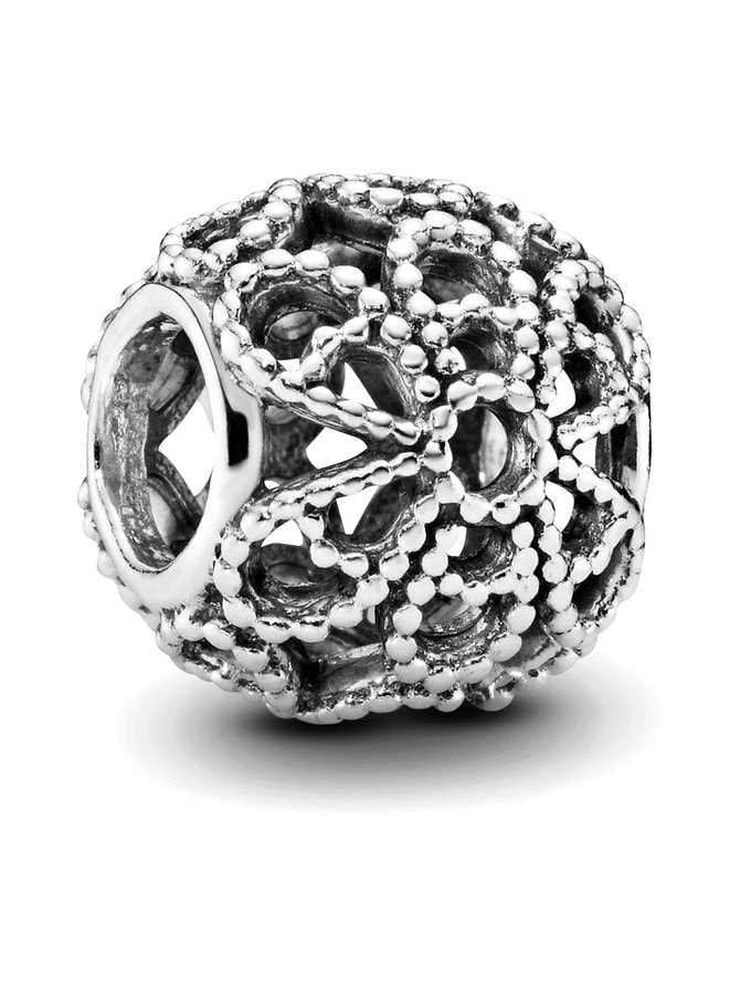 Openwork Roses Silver Charm