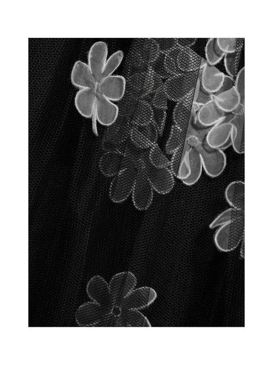 RED Valentino - Organza Flowers Embroidered Point D'Esprit Tulle Dress -mekko - 0NO BLACK   Stockmann - photo 4