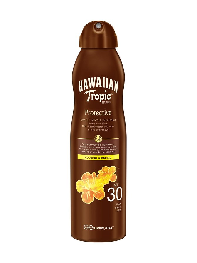 Hawaiian Dry Oil Coco & Mango C-spray SPF 30 -aurinkosuojaöljy 180 ml