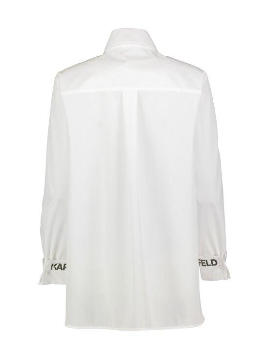 Karl Lagerfeld - Karl Collar Poplin -pusero - 100 WHITE | Stockmann - photo 2