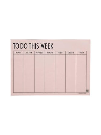 Weekly Planner notebook - Design Letters