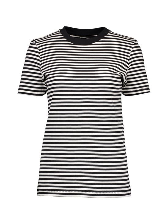 Selected - SfMy Perfect Tee -paita - BLACK/SNOW WHITE (MUSTA/VALKOINEN) | Stockmann - photo 1