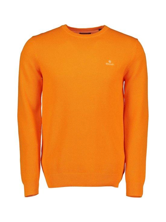 GANT - Cotton Piqué Crew Neck Sweater -puuvillaneule - 804 PERSIMMON ORGANE | Stockmann - photo 1