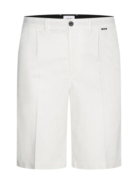 Calvin Klein Menswear - Regular Pleat Cotton Linen -shortsit - YAF BRIGHT WHITE   Stockmann - photo 1