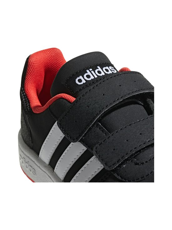 adidas Performance - Hoops 2.0 -kengät - CORE BLACK / CLOUD WHITE / HI-RES RED | Stockmann - photo 8