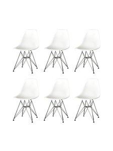 Vitra - Eames DSR -tuoli, 5+1 kpl - VALKOINEN/KROMI | Stockmann