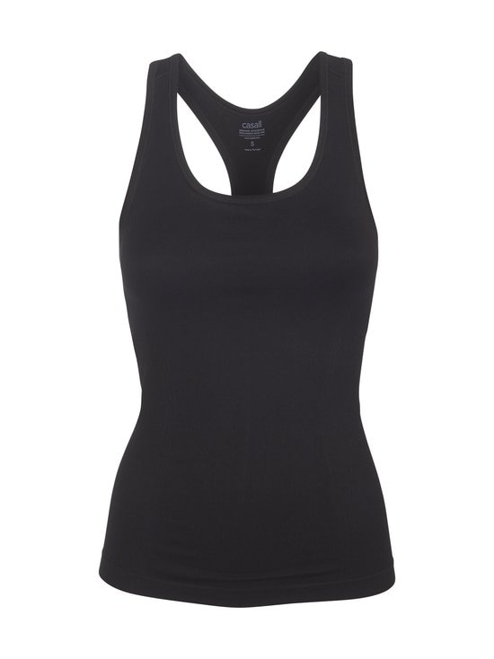 Casall - Essential Seamless Support Racerback -toppi - 901 BLACK | Stockmann - photo 1