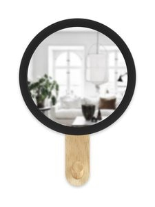 Umbra - Hub Mirror Hook -peilikoukku - BLACK/NATURAL | Stockmann