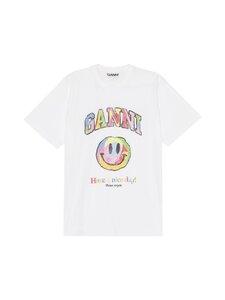 Ganni - Basic Cotton Jersey -paita - 151 BRIGHT WHITE | Stockmann