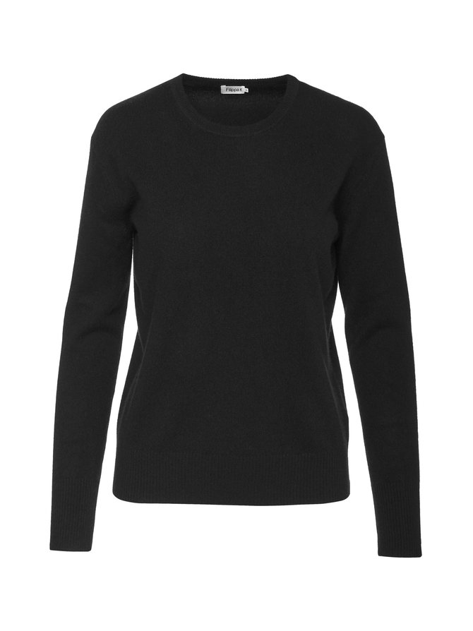 Cashmere R-Neck Sweater -kashmirneule