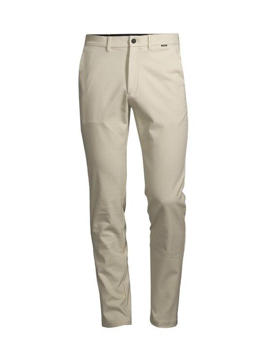 Calvin Klein Menswear - Tech Stretch Slim Fit Chino -housut - AEV BLEACHED STONE   Stockmann - photo 1