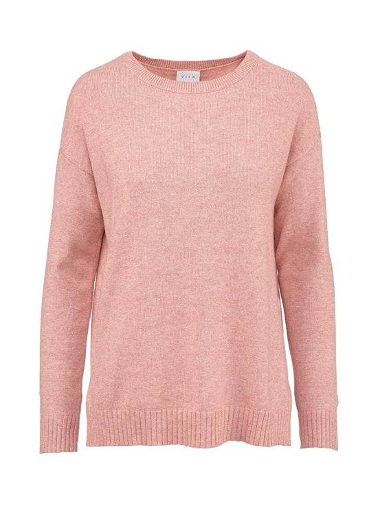 Vila - ViRil High Low L/S Knit Top -neule - MISTY ROSE DETAIL:MELANGE | Stockmann - photo 1